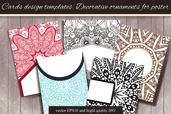 Cards Templates Mandalas For Poster