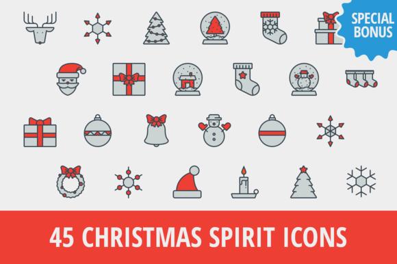 45 Christmas Spirit Icons