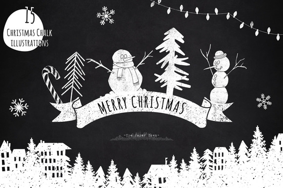 Chalkboard Christmas Cliparts