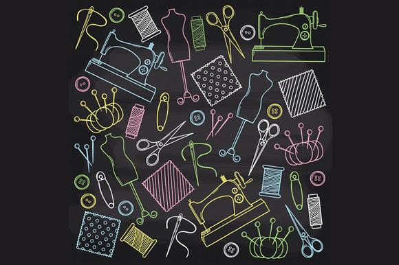 Chalkboard Sewing Set