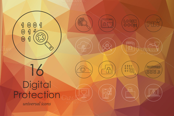 16 Digital Protection Icons