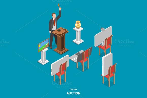 Online Auction Isometric Concept