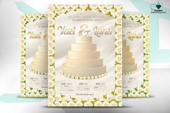 Wedding Flyer Gold And Silver