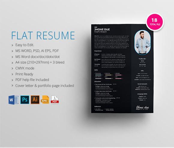 Flat Resume