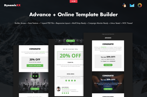 Advance Online Template Builder