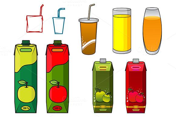 Apple Juice Design Elements In Carto