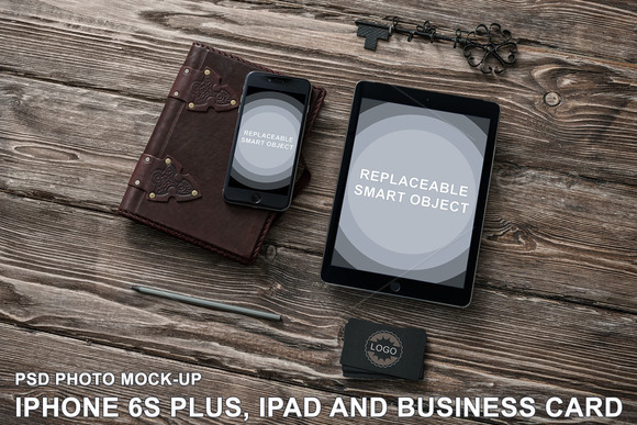 Apple Devices And B-Card Mock-up
