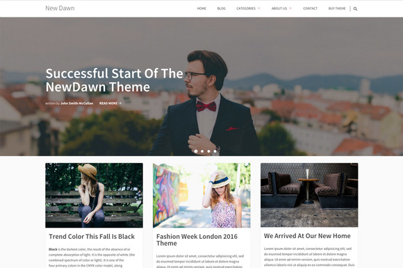 Business WordPress Theme New Dawn