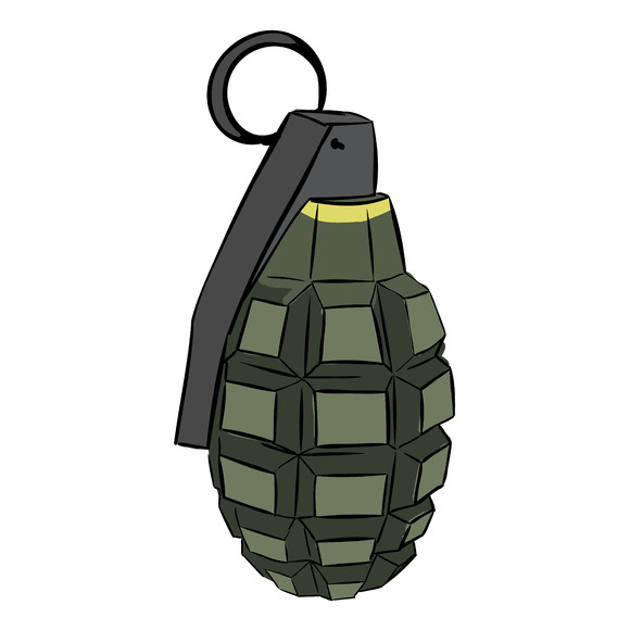Colored Hand Grenade