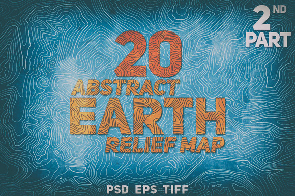 20 Abstract Earth Relief Maps Part#2
