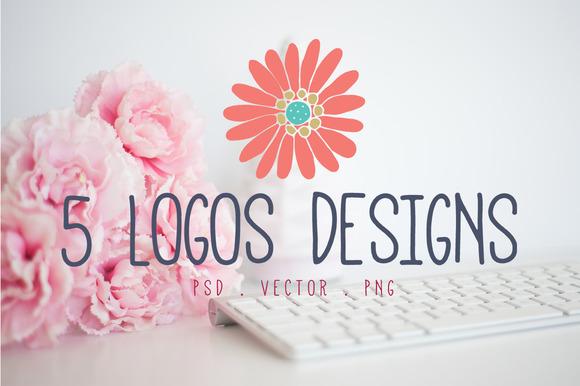 Logo Design Bundle Floral Graphics