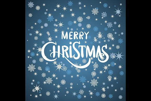 Merry Christmas Card Snow