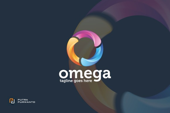 Omega Circle O Logo Template