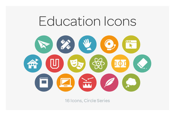 Circle Icons Education
