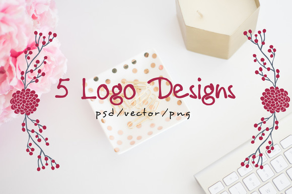 Logo Design Bundle 5 Hand Drawn