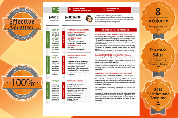Effective Resume Template CV Templ