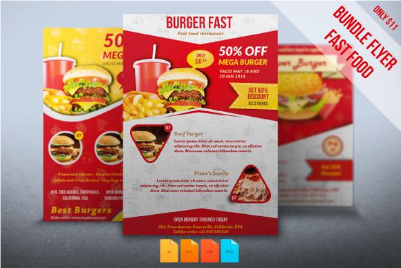 Bundle Flyers Fast Food