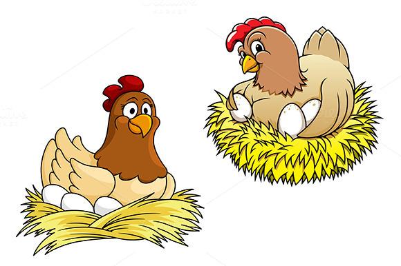 Рисунки курица на яйцах чтобы