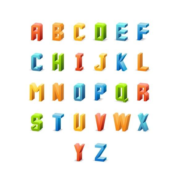 Vector 3D Retro Font