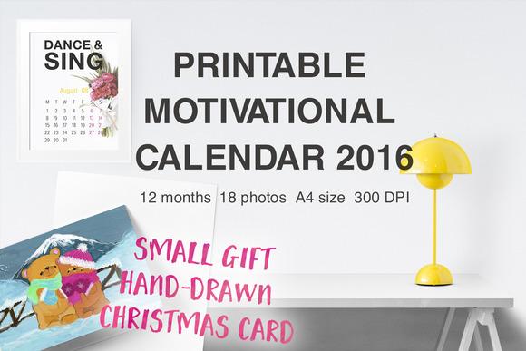 Printable Calendar 2016 Motivating