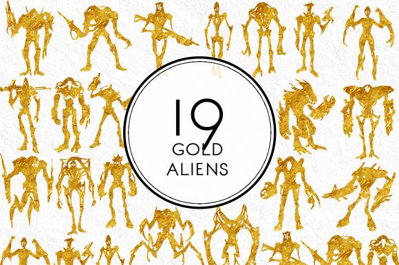 Gold Aliens