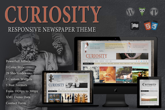 Curiosity Responsive Newspaper Theme