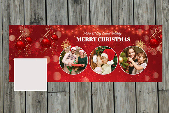 New Year Christmas Facebook Timeline
