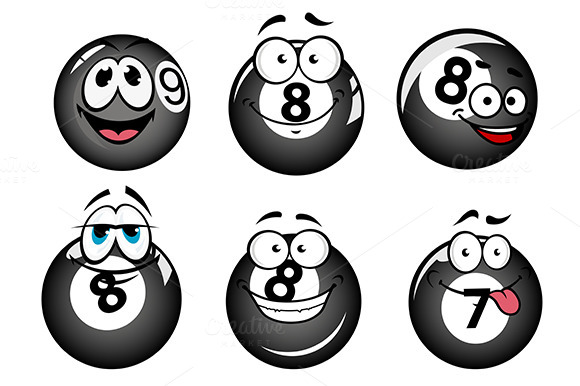 Funny Smiling Pool And Billiard Ball