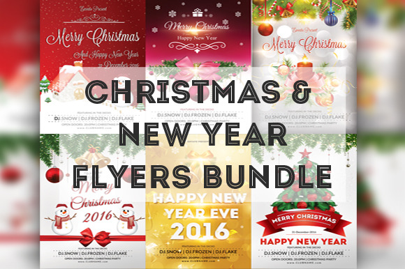Christmas New Year Flyers Bundle
