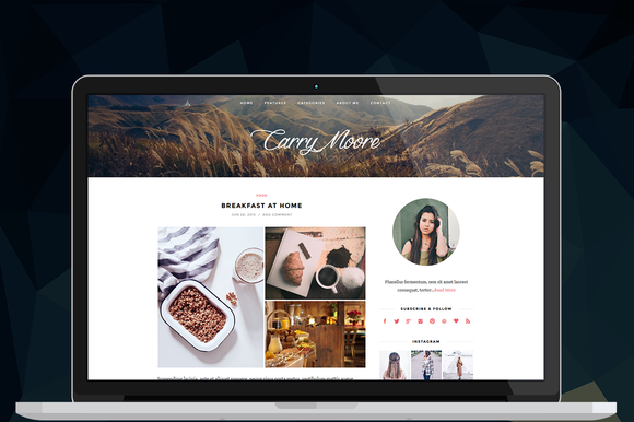 La Pura WordPress Blog Theme