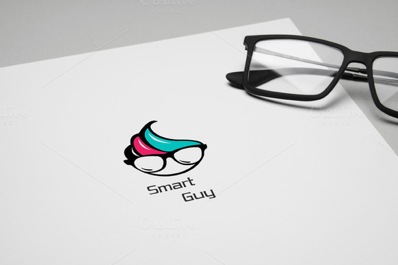50%OFF Smart Guy Logo Template