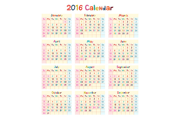 Self Made Calendar 2016 : Self made calendar free designtube creative design content