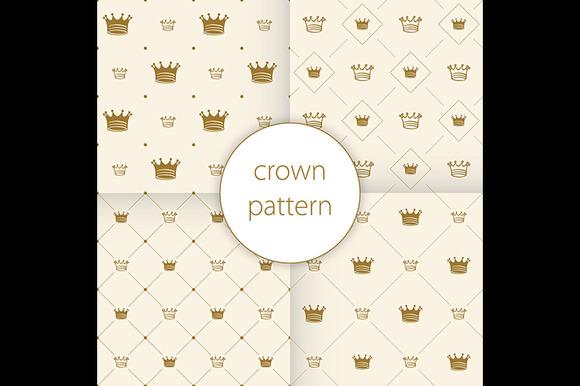 Simple Seamless Vector Pattern Crown