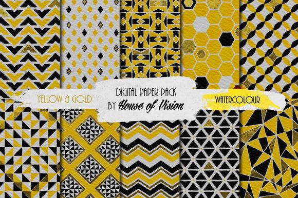 Yellow Geometric Pack
