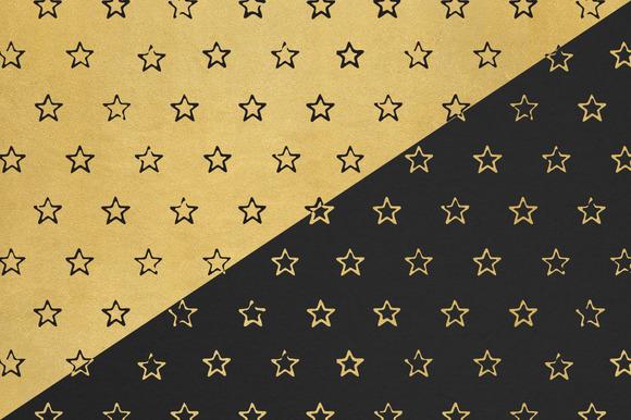 Black Gold Star Pattern