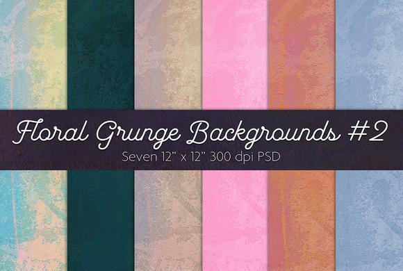 Floral Grunge Backgrounds #2
