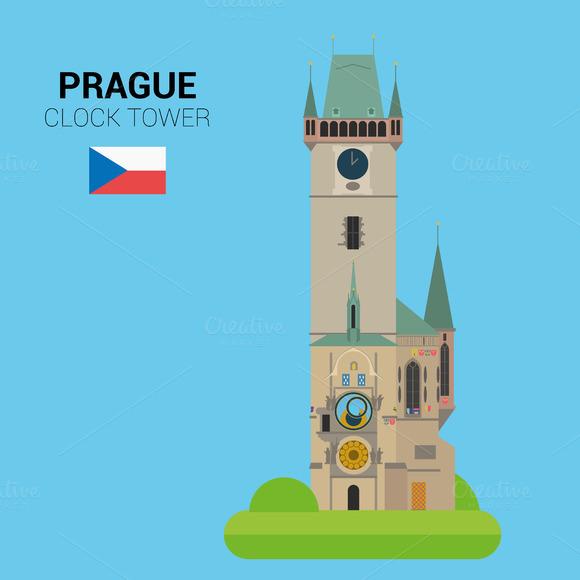 Clock Tower Prague Vector