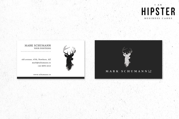 Business Cards I Am Hipster
