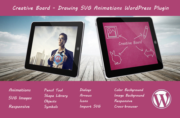 Creative Board Drawing SVG Plugin