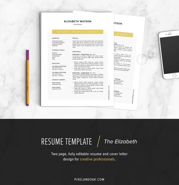 Resume Template The Elizabeth