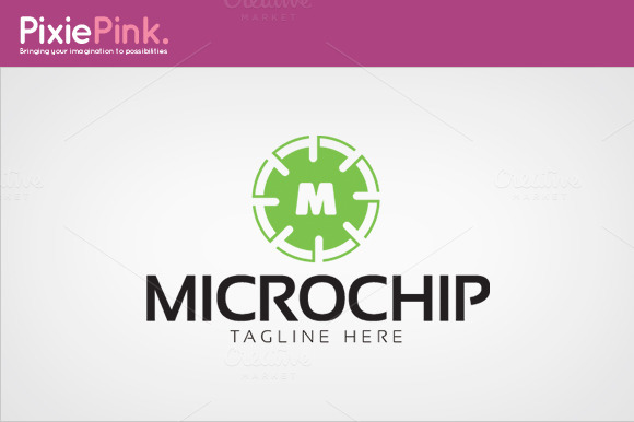 Micro Chip Logo Template