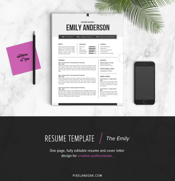 Resume Template The Emily