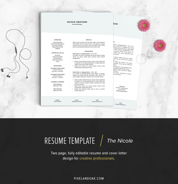 Resume Template The Nicole
