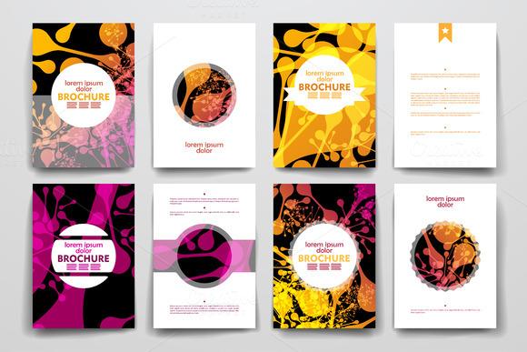Brochures In DNA Molecule Style