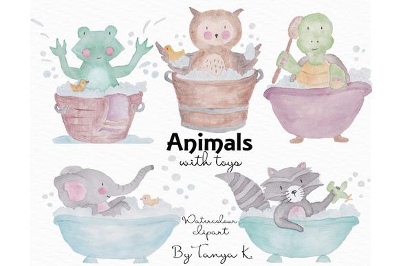 Cute Animals Watercolor Clipart