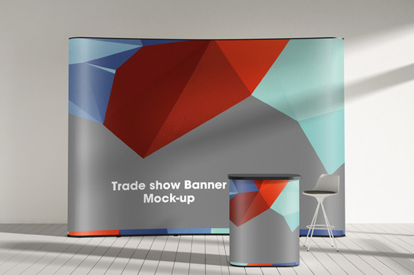 Trade-show Display Booth Mock-up Vol