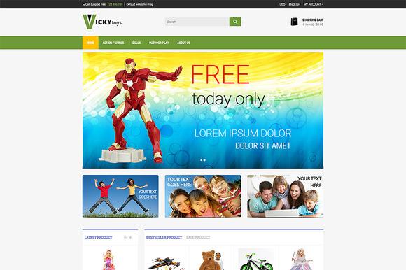 Toy Store Premium Opencart Theme