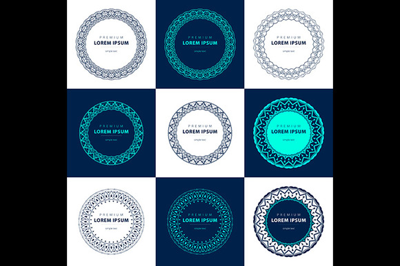 Vector Set Outline Emblems Badges