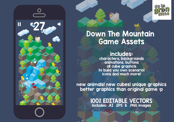 Down The Mountain Game Assets