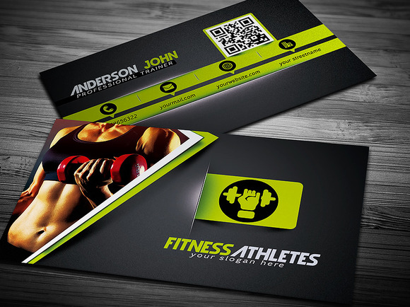 Gym Fitness Business Card Template